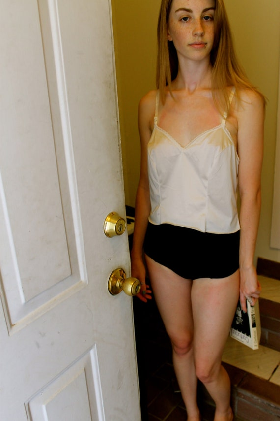 Cut Cropped White Nighty Top