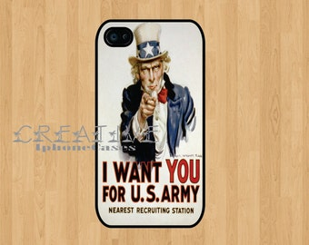 Uncle Sam I want you Iphone 4 Case iphone 4S case