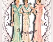 McCall 174 Stunning Vintage 1930s Nightgown Lingerie Sewing Pattern