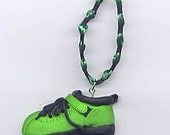 Low-cut boot - green and black Roller Derby, roller skate ornament, decoration