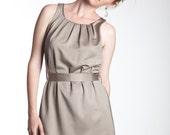 Adele Dress, Pleated Neckline Dress