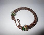 Copper Bracelet,Bangle Bracelet,Wire Wrapped Bracelet,6.5 To 7 Inch Bracelet,Bead Bracelet