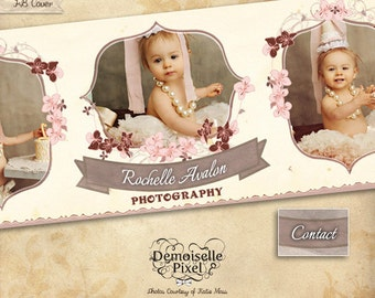 Facebook Timeline Cover, Blog Banner Template for Photographer, Photography Studio, Personal & Business Use