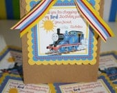 15 Thomas the Train Favor Tags & Bags