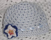 Blue Baby Boy Crocheted hat with star 50% off Starting up sale