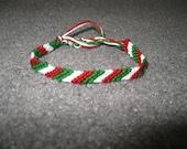 Italian Flag Friendship Bracelet