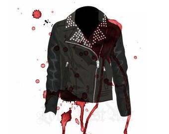 Rocker Jacket - Fashion Illustration-POSTCARD