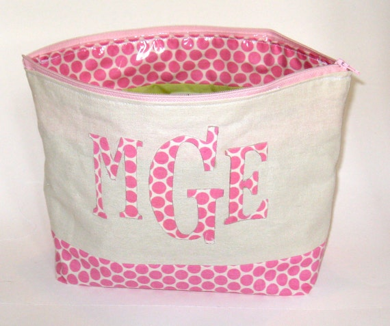 Medium Monogrammed Cosmetics Bag