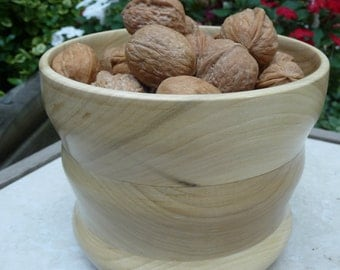Sculpted Wood Bowl or Planter