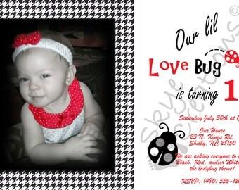 Lady Bug Invitations, Love bug