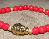 Red & Gold Buddha Bracelet