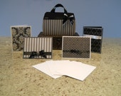 Chic Card Stock Purse with Matching Stationary - Gift Set