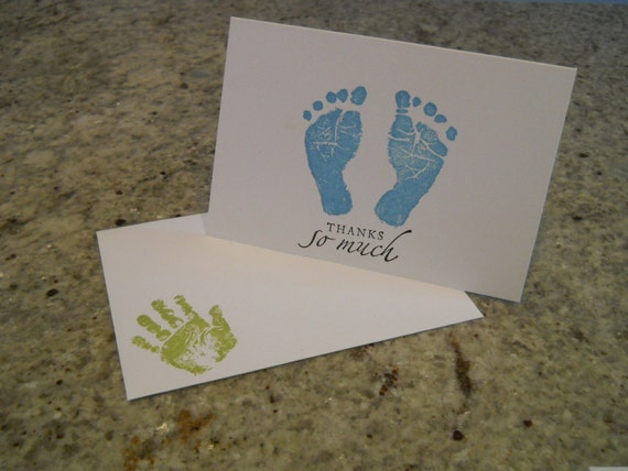 Baby Boy Shower Thank You Cards with Envelopes Set of 10