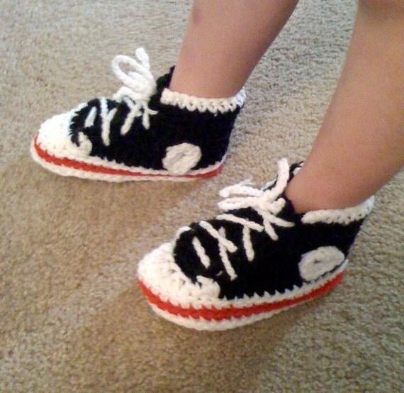 Tennis Shoe Slippers High Top Tennis Shoe Slippers