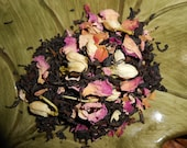 Organic MADAME GREY Artisan Tea Blend - A French Twist on a Classic - Earl Grey, Roses, Jasmine - One Ounce of Loose Tea yields 12-15 Cups