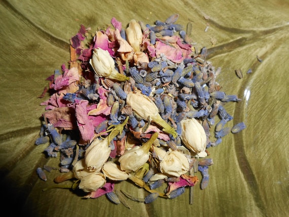 Organic FAIRY RING Herbal Tea - Artisan Blend - Refreshing, Caffeine-Free, Sweet, Magical, and Floral - One OUNCE - yields 15-30 Cups