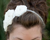 Roses Roses in a Row Headband (large) (wedding)