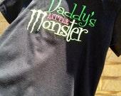 Daddy Monster Boy Applique T-Shirt