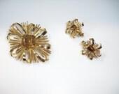Trifari Brooch and Earring Set