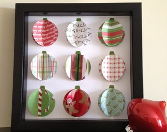 Ready to ship SALE - Christmas Ornament, 3D Paper Art