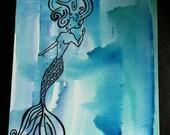 """Original Watercolor Painting """"Sailors Love"""""""