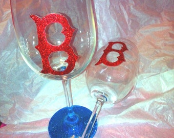 Red Sox Wine Glass Set