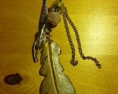 bookmark - Silver feather