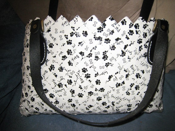 """Candy Wrapper Purse made w/ gft wrap """"Doggie Bag"""""""