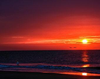 "Beach Sunrise Photograph Print  ""Tybee Island Morning"" 8x10 (and larger) Fine Art Photo, Wall Art Home Decor, Landscape Travel Photography"