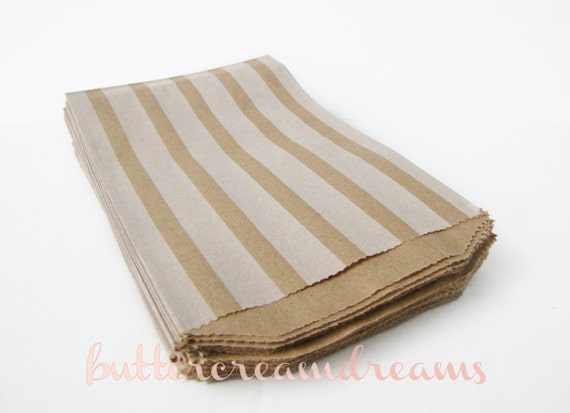 Vertical Striped Paper Favor Bags - 20 count