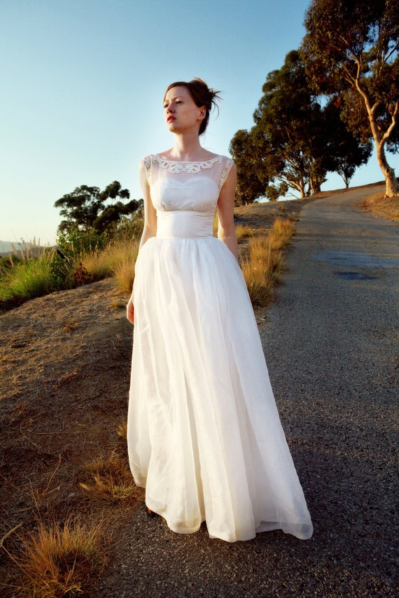 Items similar to 1960 39 s vintage wedding dress on etsy for Wedding dress on etsy