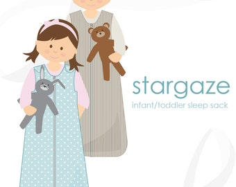 Sleep sack pattern: Stargaze baby / toddler sleep sack PDF pattern