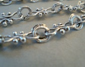 Fancy silver plated chain