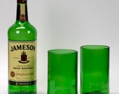 Set of Two (2) Recycled Jameson Drinking Glasses / Tumblers, New