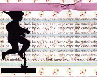 Nursery Rhyme Card - Jack Be Nimble