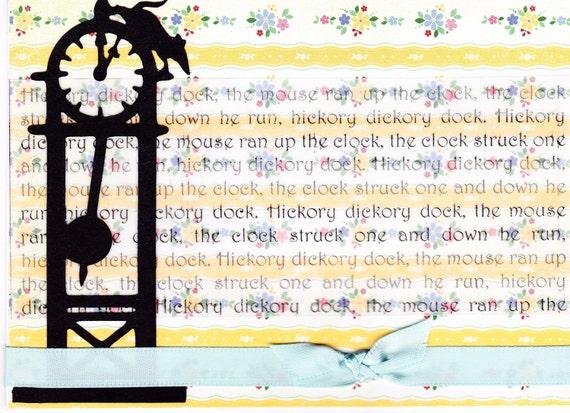 Nursery Rhyme Card - Hickory Dickory