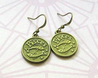 Pisces Zodiac Earrings