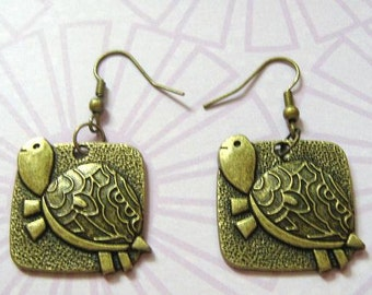 CLEARANCE Turtle Earrings