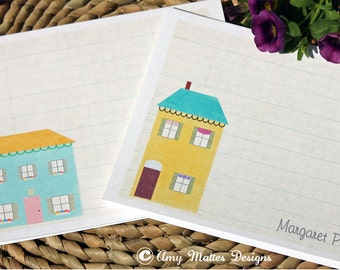 DIY Printable Fresh & Fun Personalized Note Cards Little Houses