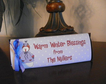 Christmas candy bar wrapper