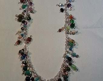 Bejeweled chain necklace, made to order
