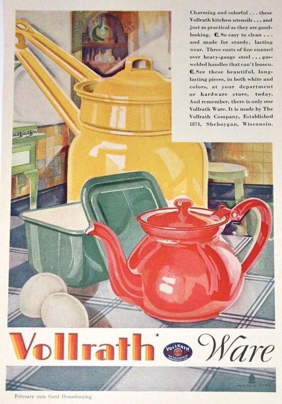 Vollrath Kitchen Ware Ad, Vintage 1920s Good Housekeeping Magazine Advertisement