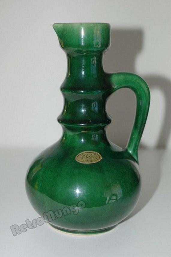 Vintage mid century West German Jopeko vase in green
