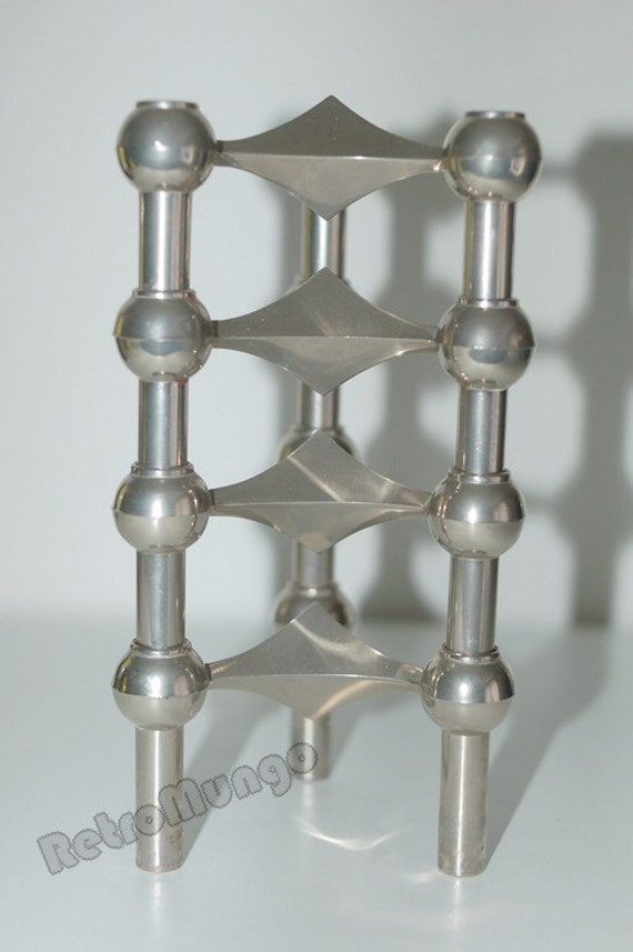 4 stackable Retro mid century candle holders by Nagel S22