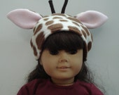 "American Girl 18"" Doll Clothes - Giraffe Hat"