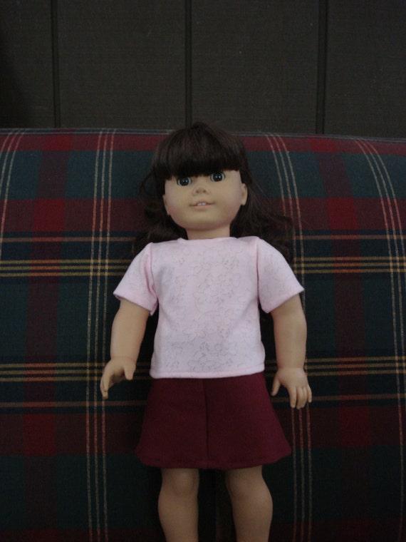 "18"" Doll Clothes - Light Pink T-Shirt"