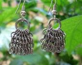 Stainless steel Mirco Chain Drop Chainmail Earrings
