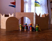 Superheros - set of four superhero wooden peg dolls