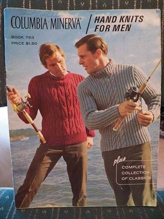 VINTAGE..Columbia Minerva..HAND KNITS For Men..Sweaters/Cardigans/Vests..Classics