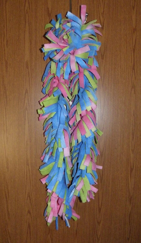 handmade fleece boa scarves scarf pastel swirl colors